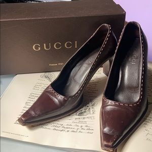 Tom Ford for Gucci Leather Top Stitch Pump 7.5